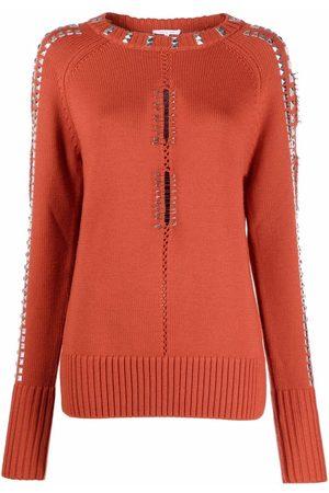 Patrizia Pepe Maglia studded knitted jumper