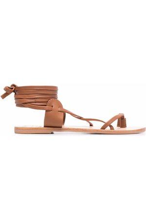 MANEBI X Alex Rivière leather sandals