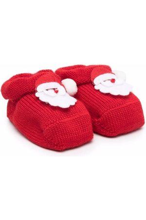 Story Loris Santa patch-embellished booties