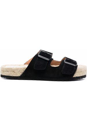 MANEBI Women Sandals - Hamptons double-strap suede slides