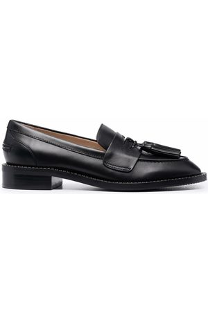 Stuart Weitzman Tassel-detail polished-finish loafers
