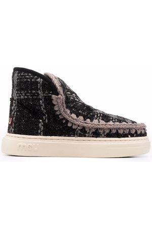 Mou Tartan ankle boots
