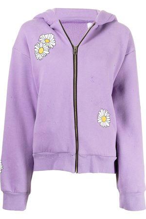 Natasha Zinko Daisy-print stretch-cotton hoodie