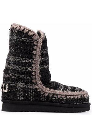 Mou Tartan calf-length boots