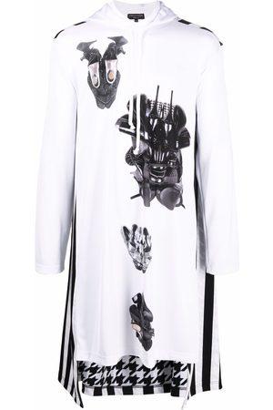 Comme des Garçons Men Sweatshirts - Graphic-print longline hoodie