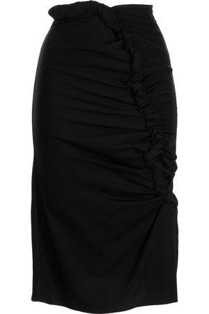 CHRISTOPHER ESBER Ruched-detail high-waist skirt