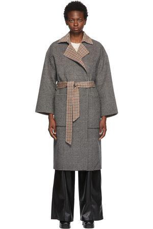 Women Coats - Nanushka Reversible Black & White Oversized Alamo Coat