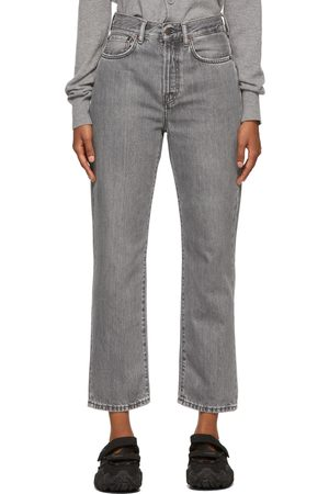 Women Straight - Acne Studios Mece Straight Fit High Rise Jeans