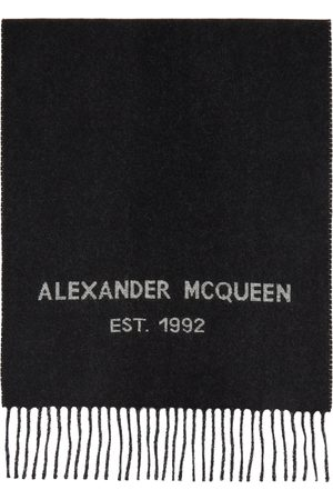 Women Scarves - Alexander McQueen Oversize Graffiti Scarf