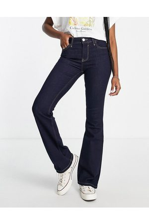 River Island Mid rise flared jeans in dark
