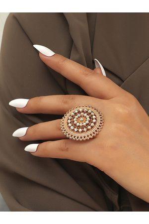 YOINS Hollow Diamond Round Rings