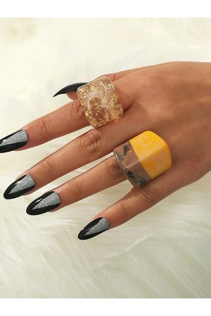 YOINS 2pcs Acrylic Simple Rings