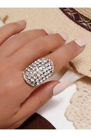 YOINS Women Rings - Diamond Retro Oval Ring