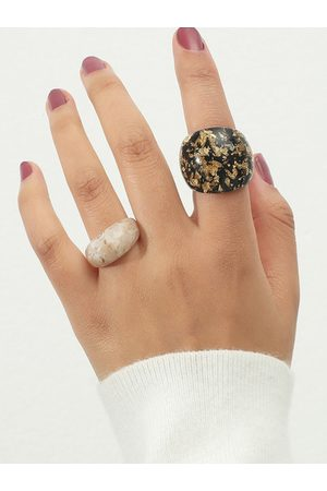 YOINS 2pcs Simple Acrylic Rings