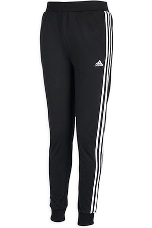 adidas Little Girl's & Girl's 3-Stripe Tricot Joggers
