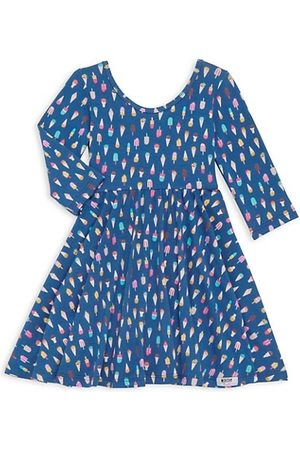 Worthy Threads Girls Printed Dresses - Little Girl's & Girl's Ice Cream Print Dress