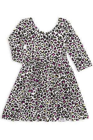 Worthy Threads Girls Printed Dresses - Little Girl's & Girl's Cheetah Print Dress