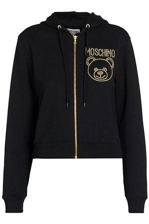Moschino Women Hoodies - Studded Bear & Logo Hoodie