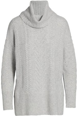 Design History Women Jumpers - Mix Cable-Knit Turtleneck Sweater
