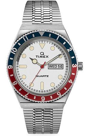 Timex Men Watches - Q 3-Hand Stainless Steel Bracelet Watch