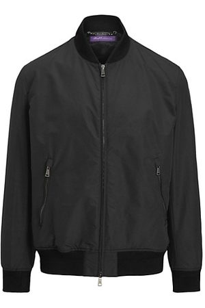 Ralph Lauren Purple Label Men Bomber Jackets - Drayton Varsity Bomber Jacket
