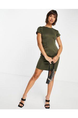 Closet Women Pencil Dresses - Contour seam pencil dress in olive