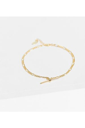 Orelia Women Anklets - T-bar figaro chain anklet in plate