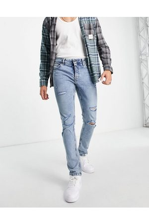 Only & Sons Men Slim - Slim fit jeans with rips in light
