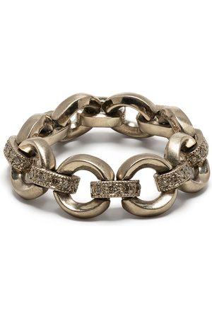 Hum Women Rings - 18kt gold chain link diamond ring