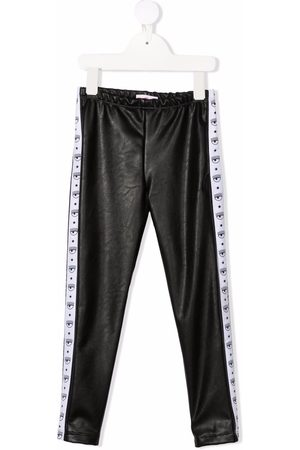 Chiara Ferragni Logo-tape faux-leather leggings