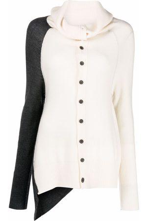 Y'S Women Cardigans - Two-tone button cardigan