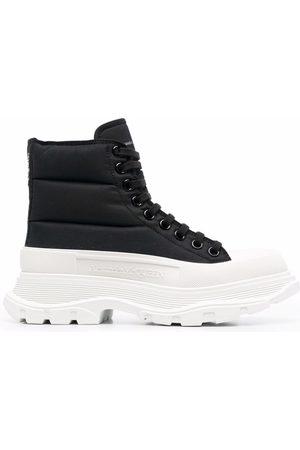 Alexander McQueen Women Sneakers - Tread Slick padded lace-up sneakers