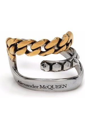 Alexander McQueen Women Earrings - Punk logo-engraved chain-detail single ear cuff