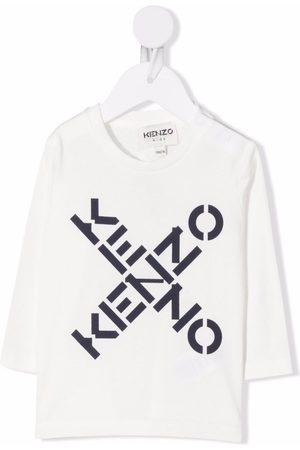 Kenzo Baby Long Sleeve - Logo-print cotton T-shirt
