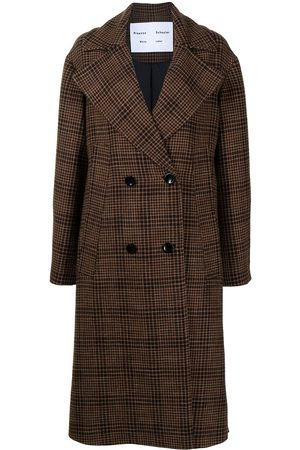 PROENZA SCHOULER WHITE LABEL Check-pattern double-breasted coat