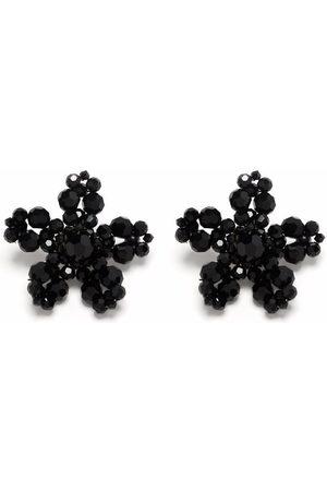 Simone Rocha Flower crystal earrings