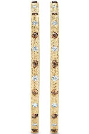 De Beers Women Earrings - 18kt yellow Talisman diamond hoop earrings