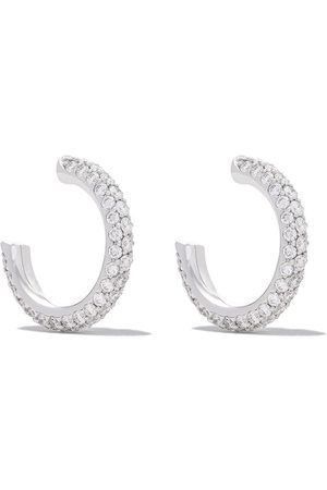 De Beers Women Earrings - DB Classic three-row micropavé diamond hoops