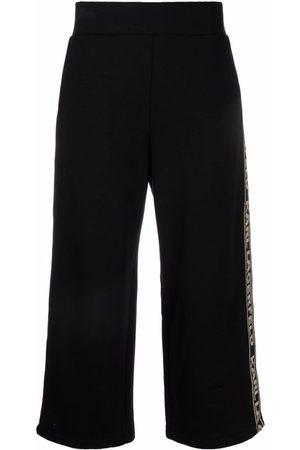 Karl Lagerfeld Women Pants - Logo-tape cropped trousers
