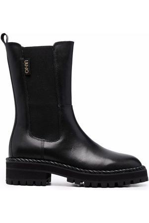 Liu Jo Logo-patch mid-length boots