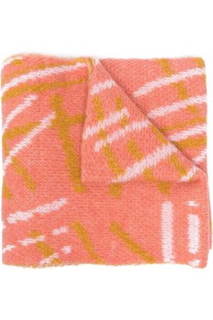 Bobo Choses Scarves - Embroidered-logo knitted scarf
