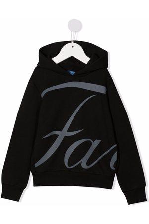 FAY KIDS Logo-print cotton hoodie