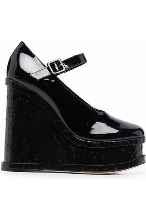 HAUS OF HONEY Women Wedged Pumps - 130mm patent leather wedge pumps