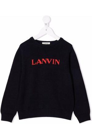 Lanvin Boys Jumpers - Intarsia-knit logo jumper