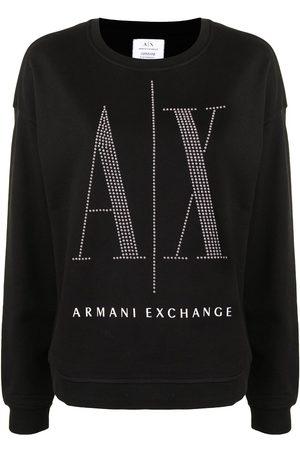 Armani Women Sweatshirts - Studded-logo sweatshirt