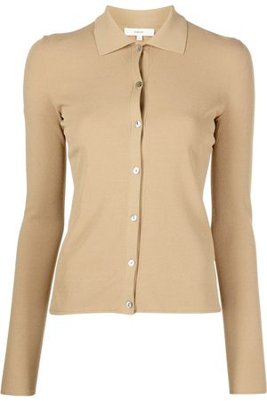 Vince Women Polo Shirts - Button-up knitted polo shirt