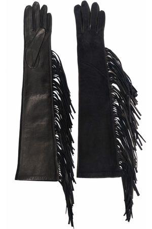 Manokhi Women Gloves - Tassel-trim leather gloves