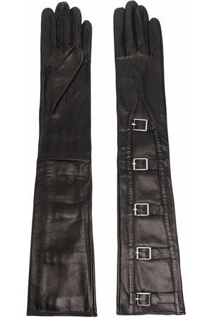 Manokhi Women Gloves - Buckle-detail long leather gloves