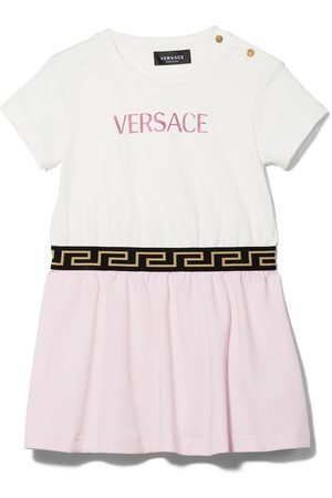 VERSACE Logo-embrodiered dress