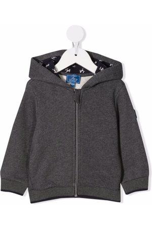 FAY KIDS Logo patch cotton hoodie